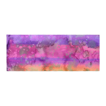 "Ebi Emporium ""California Surf 5"" Pink Purple Bed Runner"