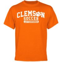 Clemson Tigers Soccer Letterwinner T-Shirt - Orange