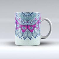 The Vintage Mandala ink-Fuzed Ceramic Coffee Mug
