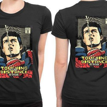 Joy Division In Spiderman Comic 2 Sided Womens T Shirt