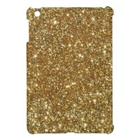 Gold Glitter Case Savvy Glossy iPad Mini Case