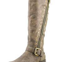 Madeline Sparrow Tall Shaft studded Boots