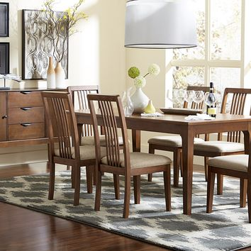 Mid-Mod Transitional Rectangular Dining Table Cinnamon