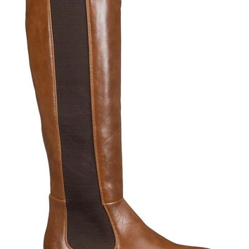 Cognac Gabby Stretch Riding Boot - Brown