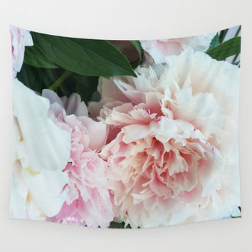 Peonies in the Spring Wall Tapestry by Climbing Mountains Art