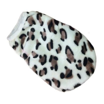 Happy home Dog Clothing Pet Fashion Pet Cat Dog Villus Clothes Winter Leopard Pet Vest Clothing