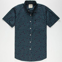 Lira Tetris Mens Shirt Navy  In Sizes