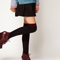 ASOS Contrast Rib Over The Knee Sock at asos.com