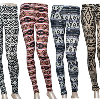 Multi-Printed High Waist Stretch Skinny Ankle Tight Leggings