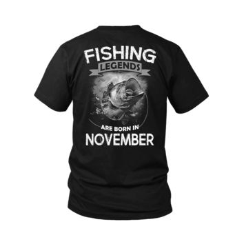 ESBV4S Fishing Legends Are Born In November Shirts