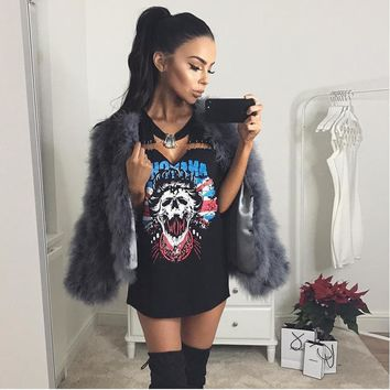 Badass Skull T-Shirt Dress