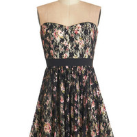ModCloth Strapless A-line Are We There Pirouette Dress