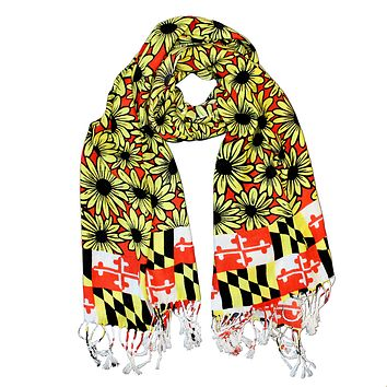 Black Eyed Susan Maryland Flag (Red) / Scarf
