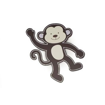 "Babies""R""Us Wooden Nursery Monkey Wall Decor"