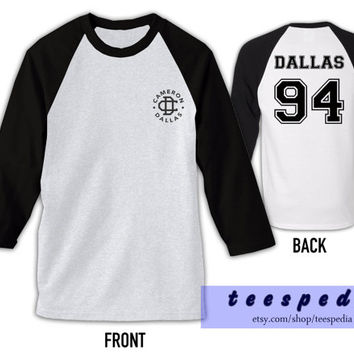 Cameron Dallas 94 Tshirt Baseball Raglan Tee Shirt For Men Women Unisex Clothing TP002