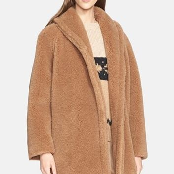 Women's Max Mara 'Teddy Bear' Faux Fur Coat,