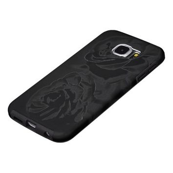 A pair of roses in black samsung galaxy s6 cases