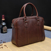 Men's Leather Casual Handbag Briefcase Shoulder Bag Messenger Bag Gift