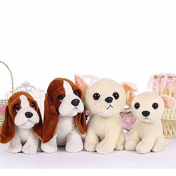 Stuffed toys squatting bassat hound dog chihuahua puppy kids toy plush animal anime peluches for children girls friends 18/22cm