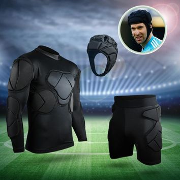 New Professional Goalkeeper Uniforms soccer training equipment soccer helmet EVA thick sponge protective Goalkeeper equipment