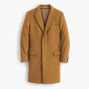 J.Crew Mens Ludlow Peak-Lapel Topcoat In Wool-Cashmere With Thinsulate