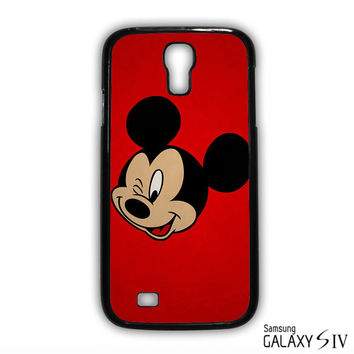 Mickey Mouse Red Background Wallpaper for Samsung Galaxy S3/4/5/6/6 Edge/6 Edge Plus phonecases