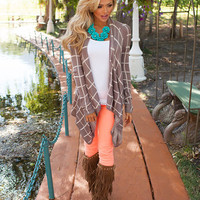 No Ordinary Love Cardigan Mocha/Ivory
