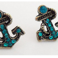 Anchor studs earrings
