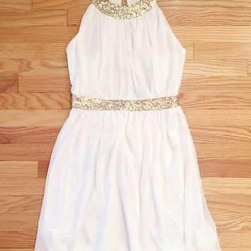 Grecian Embrace Dress in White