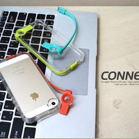 For iPhone 4 5 S 6 6 Plus High Speed Charge USB Cable Flash Light Up Case Cover