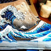 Under the Great Wave of Kanagawa Shoes