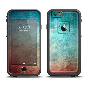 The Faded Grunge Color Surface Extract Apple iPhone 6 LifeProof Fre Case Skin Set