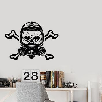 Vinyl Decal Wall Sticker Сyberpunk Skull Respirator Game Decor for boy Gift (g086)