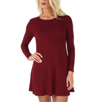 Soprano Juniors Ribbed Knit Swing Dress at Von Maur