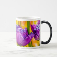 Tulips Enchanting Deep Pink Magic Mug