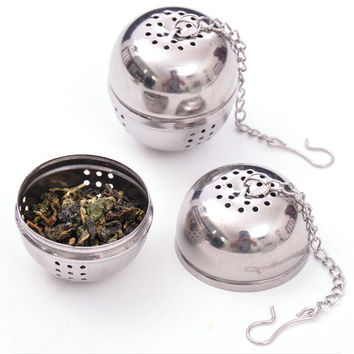 1Pcs Stainless Steel Tea Infuser Strainer Tea Filter Tea Spoon Teapot accessories Tool for Kitchen Households Gadget Tea ball