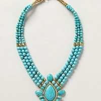 Azolla Bib Necklace by Anthropologie Turquoise One Size Necklaces