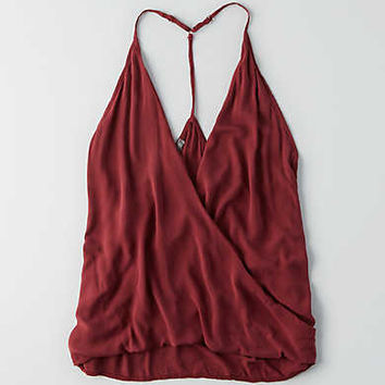 Don't Ask Why Woven Tank , Red