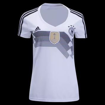 KUYOU Germany 2018 World Cup Home Women Soccer Jersey Personalized Name and Number