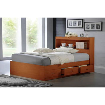 BELLACOR HIBT70 CHERRY Cherry Captain Twin Bed with Headboard