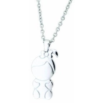 Necklace Stainless Steel Little Girl with pony tail