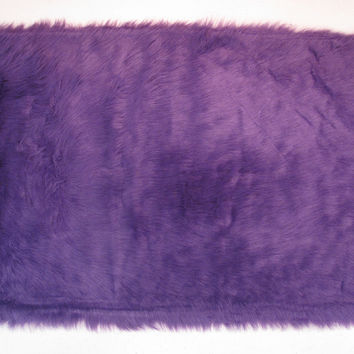 Fun Rugs Flokati Collection Purple Area Rug