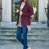 Exciting Expeditions Jacket, Burgundy