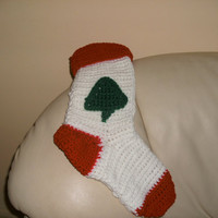 Handmade crocheted Christmas stocking with by CanadianCraftCritter