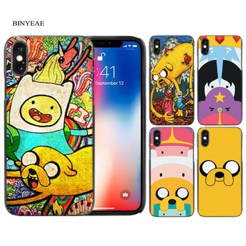 Adventure Time Pokemons Hard Black Plastic Case Cover for iPhone Apple 4 4s 5 5s SE 5c 6 6s 7 7s Plus