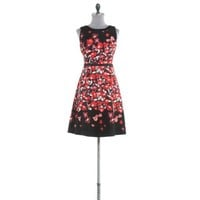 Fit-and-flared floral-print dress - Black Business Formal
