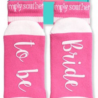 "Simply Southern ""Bride To Be Socks"" - Pink"