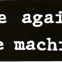 Rage Against The Machine Vinyl Sticker Letters Logo