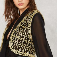 Nasty Gal Golden Age Soutache Vest