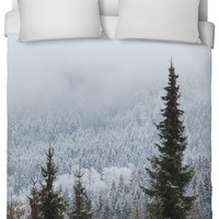 Snowy Forest Duvet Cover.
